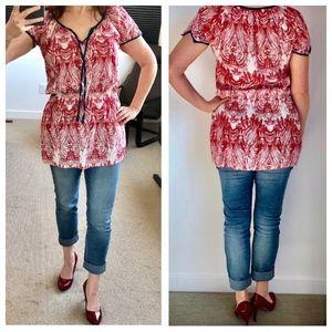 Esprit red/white/blue tunic, medium